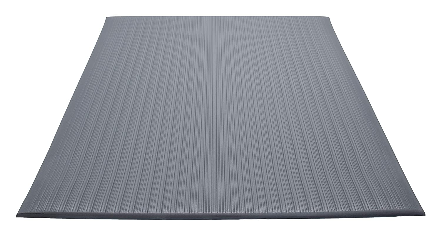 """Guardian Air StepAnti-Fatigue Floor Mat, Vinyl, 27""""x60"""", Gray, Reduces fatigue and discomfort, Can be easily cut to fit any space"""
