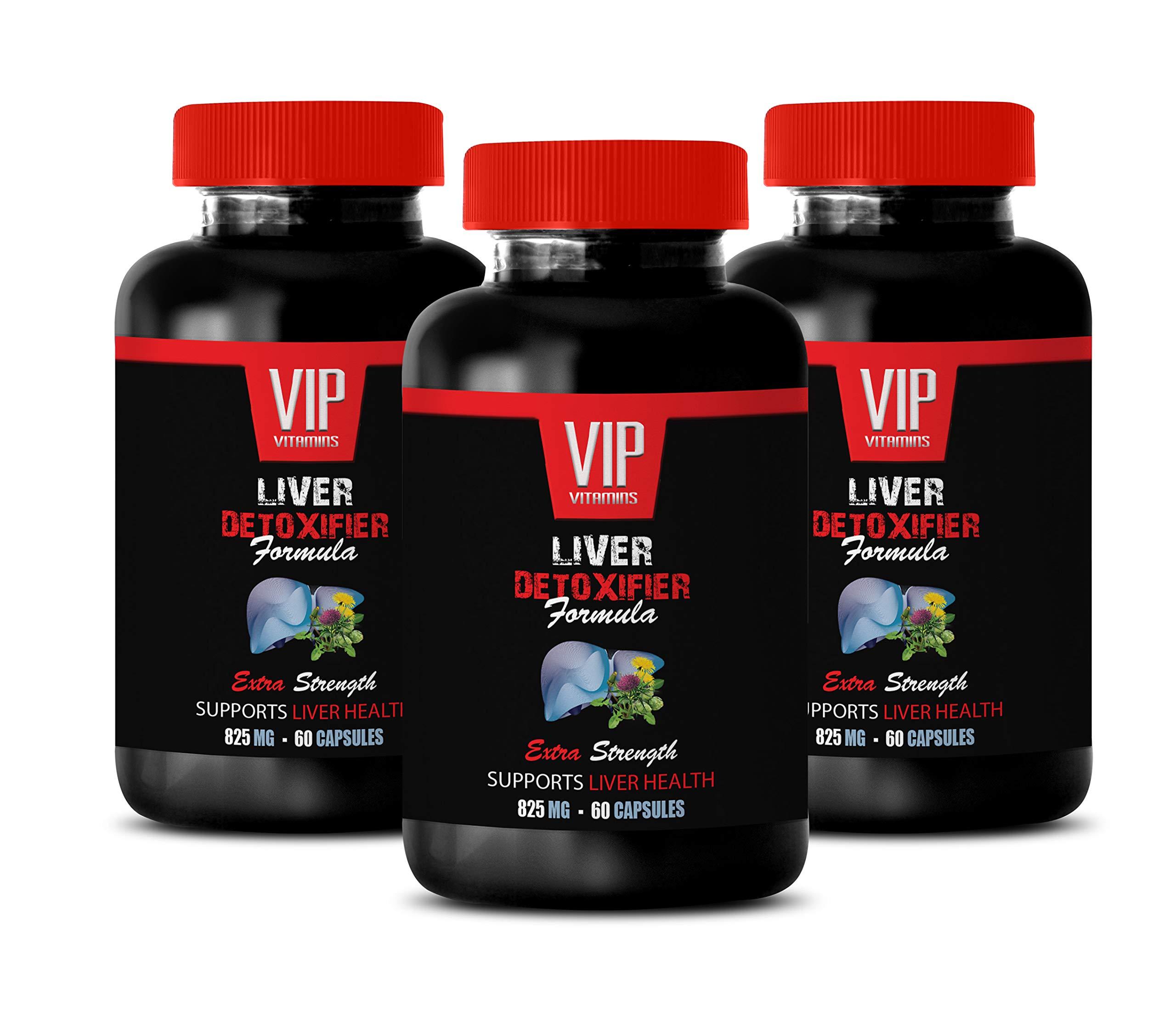 Liver Support Supplement - Liver DETOXIFIER Formula - Supports Liver Health - protease Enzyme Supplement - 3 Bottles 180 Capsules