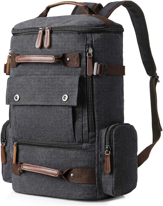 Yousu Canvas Backpack Fashion Travel Backpack Rucksack Casual Vintage Daypack