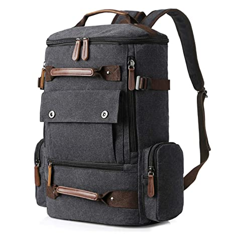 27f9e1e67 Yousu Canvas Backpack, Mens Large Travel Duffel Bags Fashion Multi  Functional Backpacks Canvas Rucksack Vintage
