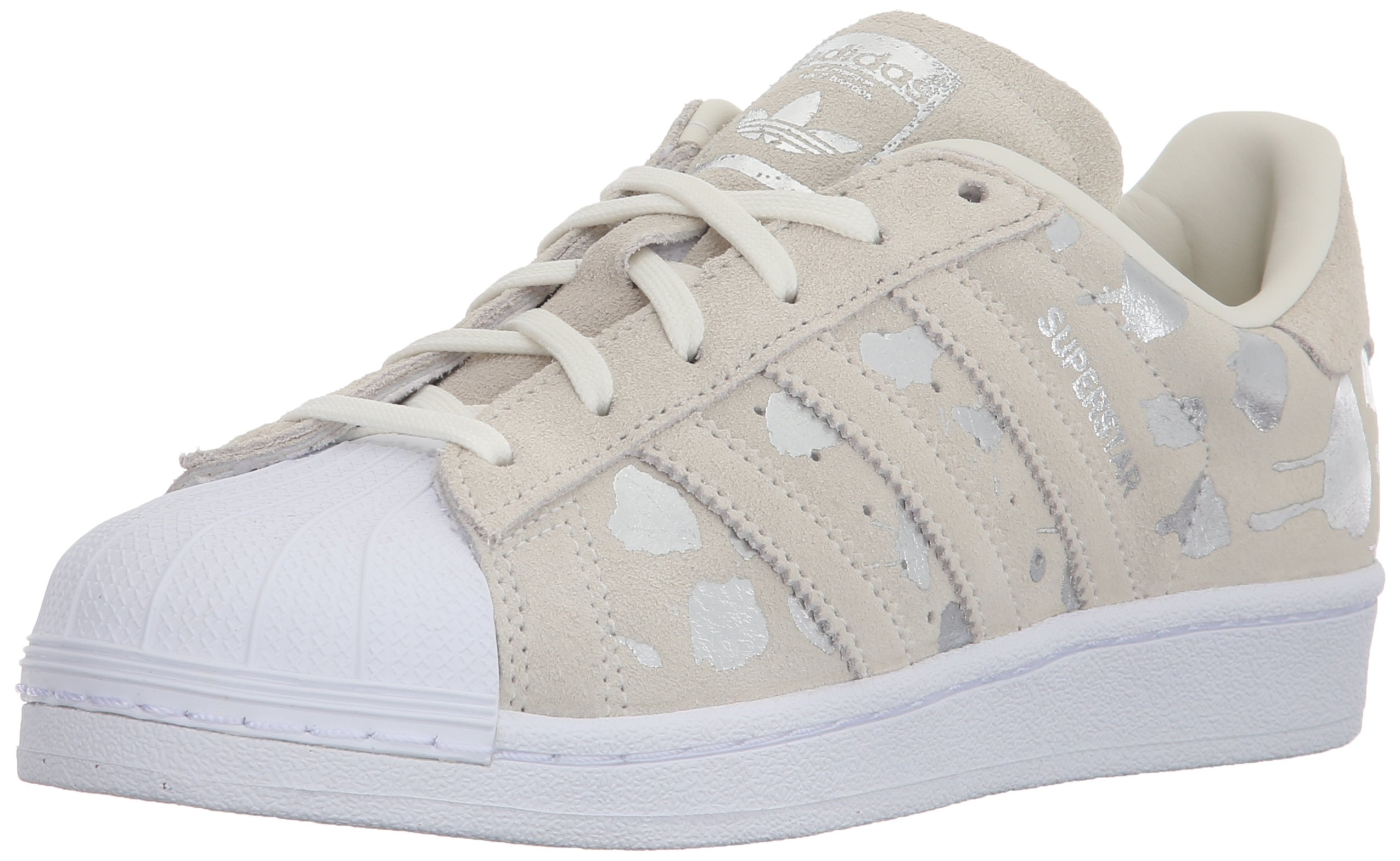 save off 45a83 7dd05 Galleon - Adidas Originals Women s Superstar Shoes Running, Off Off  White Legacy Metallic Silver Solid 6 M US