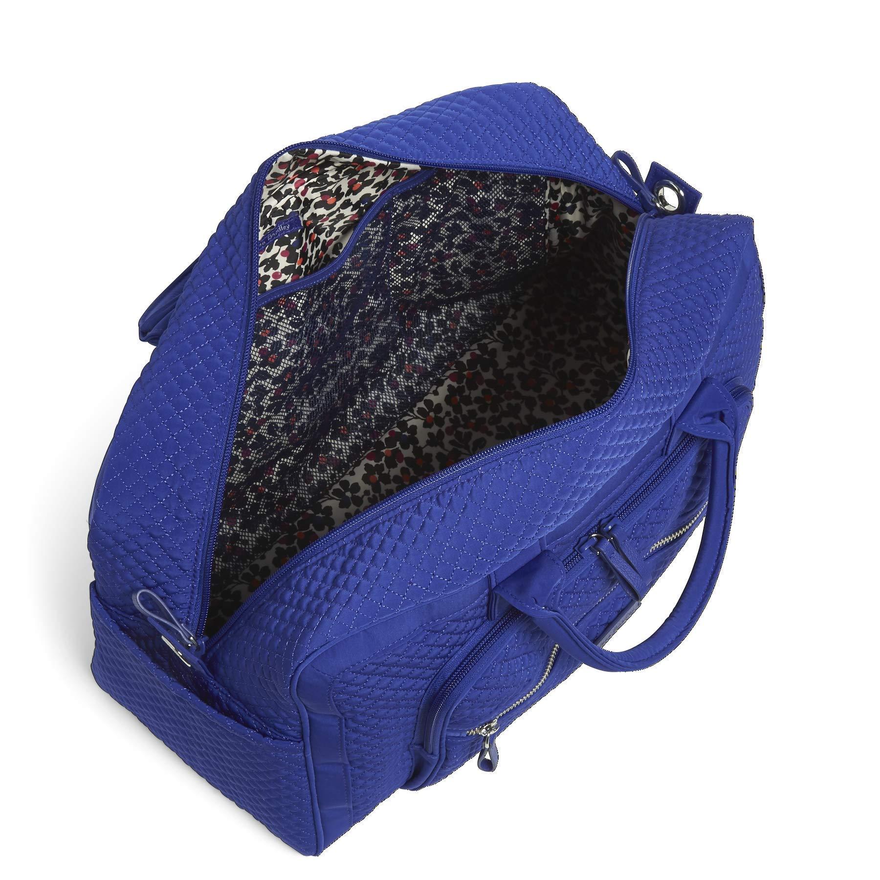 Vera Bradley Iconic Compact Weekender Travel Bag Vera,  gage Blue, One Size by Vera Bradley (Image #3)