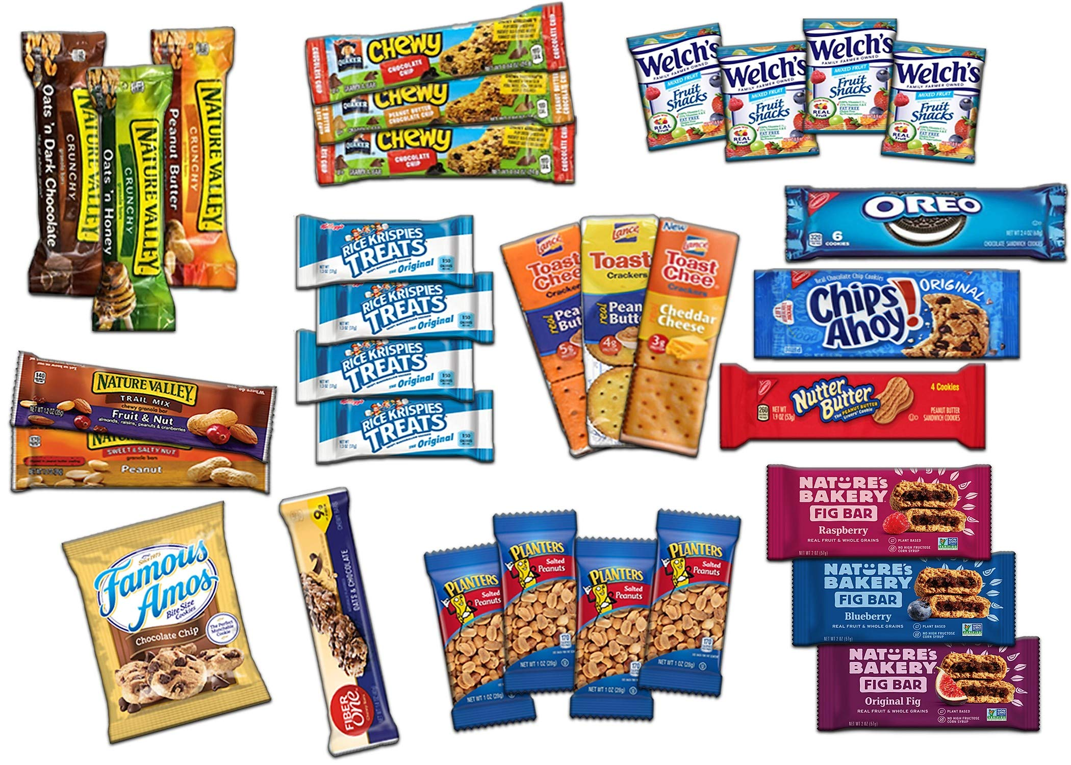 Ultimate Snack Assortment Care Package - Chips, Crackers, Cookies, Nuts, Bars - School, Work, Military or Home (50 Pack) by Custom Treats (Image #3)