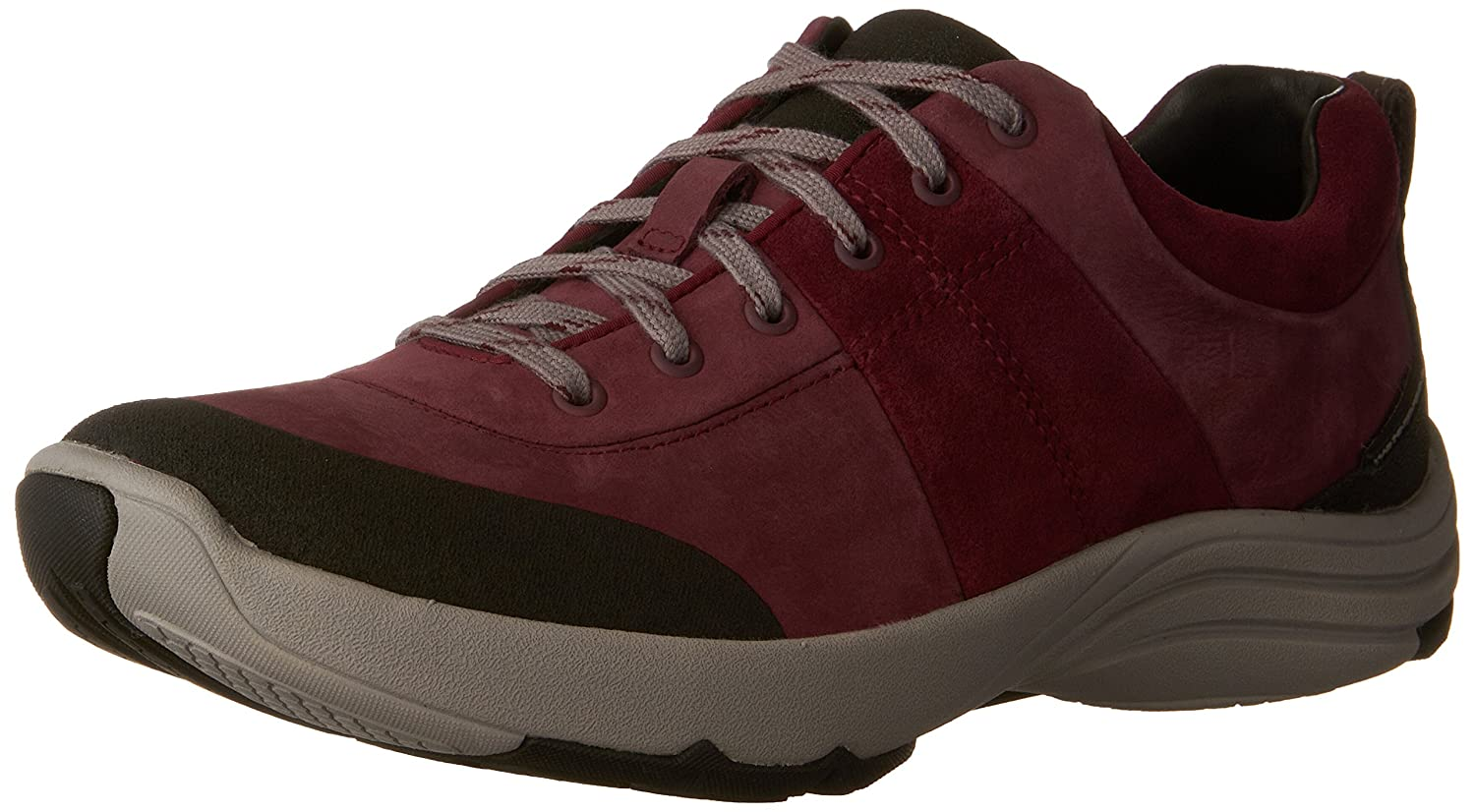 Plum Nubuck Clarks Womens Wave Andes Walking shoes