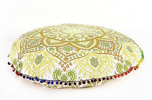 Ombre Mandala suelo almohadas grande redondo cojín de ...
