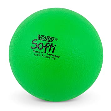 HAEST VOLLEY Softi - Pelota de gomaespuma verde verde: Amazon.es ...