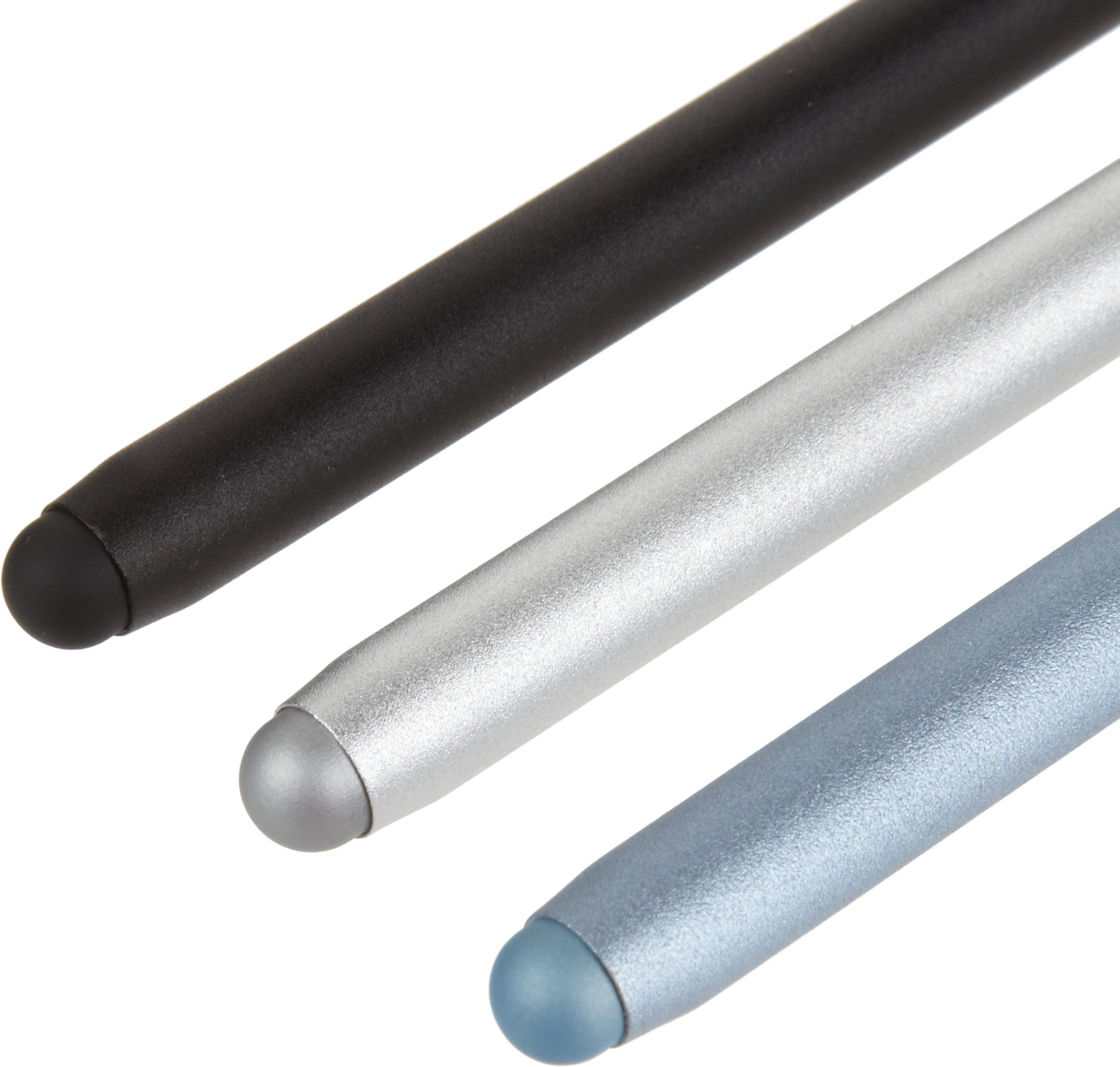 AmazonBasics 3-Pack Executive Stylus for Touchscreen Devices (Black, Silver, Blue) by AmazonBasics (Image #2)
