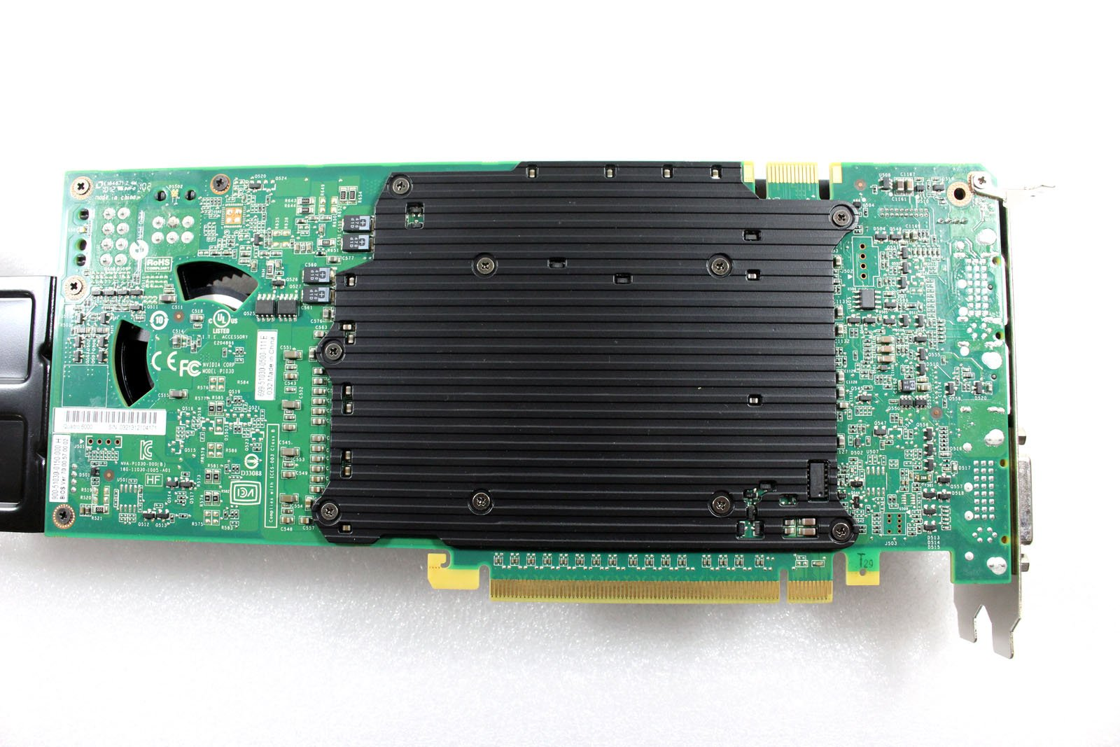 HP 616078-001 NVIDIA Quadro 6000 PCIe graphics card - With 6.0GB GDDR5 GPU memory, max resolution 2560x1600, max power consumption 204Watt, one Dual Link DVI-I and two DisplayPorts connections by NVIDIA (Image #4)