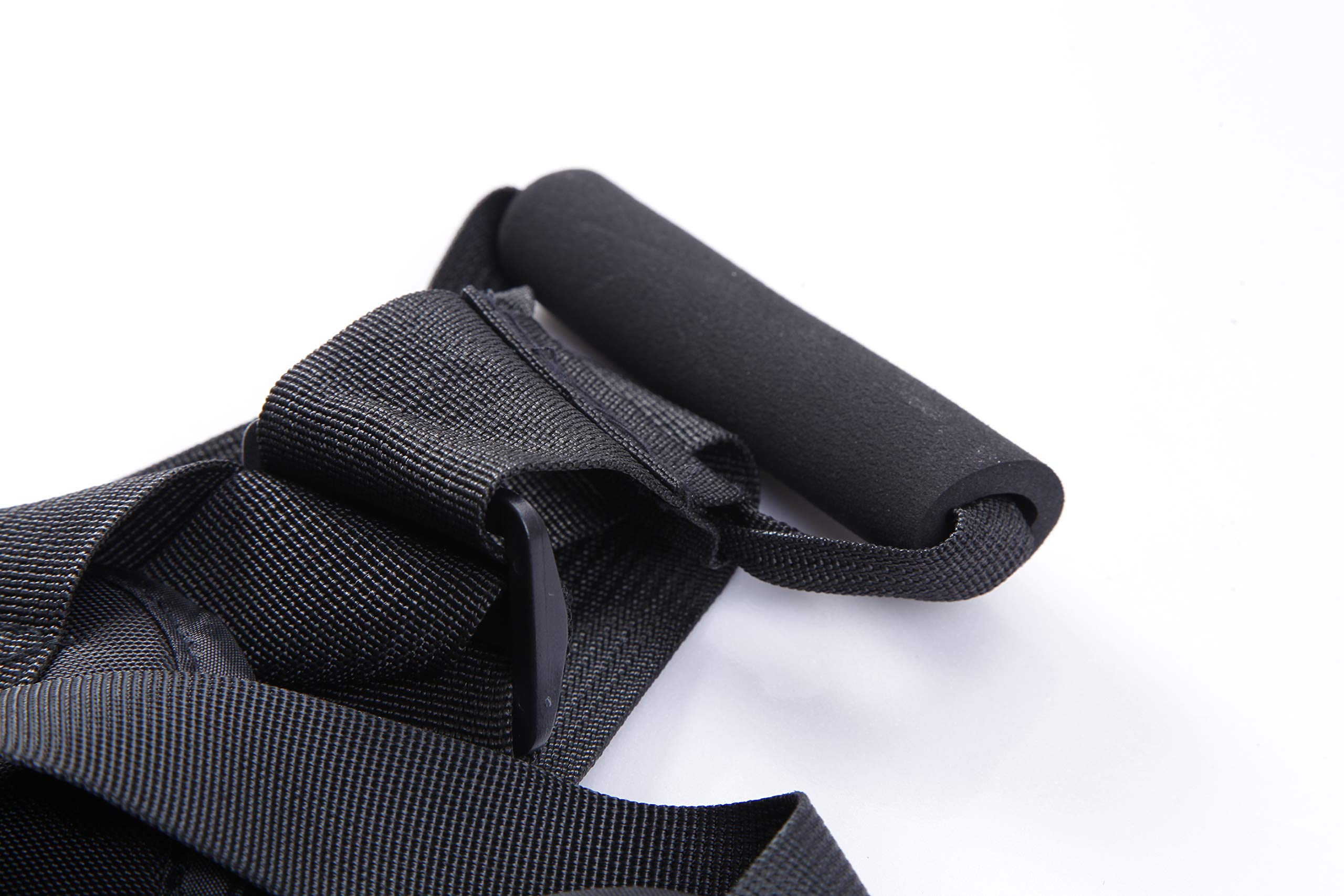 Children Motorcycle Safety Harness with Handles Reflective Material Black