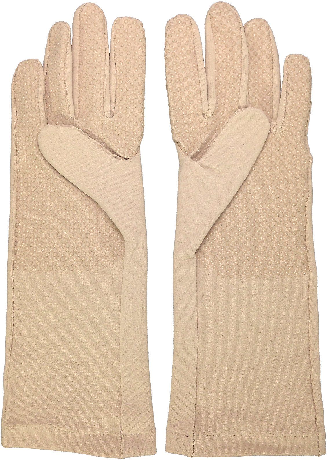 Coolibar UPF 50+ Unisex Full Finger Gloves - Sun Protective (Medium - Sahara)