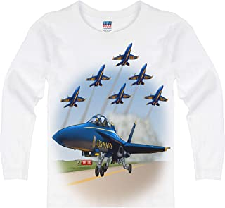 product image for Shirts That Go Little Boys' Long Sleeve Airshow Jets T-Shirt