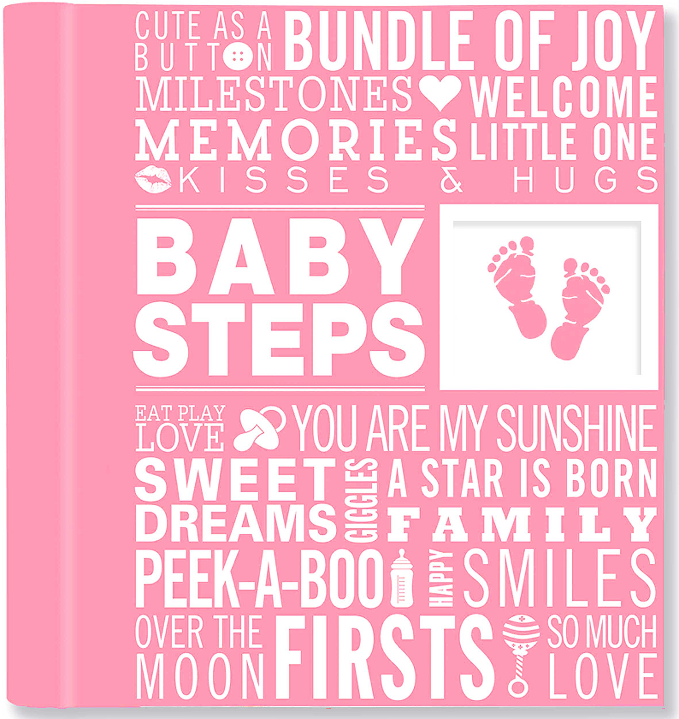 Baby Steps Babys First Year Album Pink Peter Pauper Press
