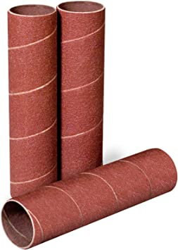 POWERTEC 11211 4-1//2-Inch x 3//4-Inch 120 Grit Sanding Sleeves 3-Pack