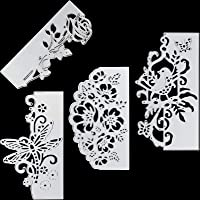 4 Pieces Metal Die Cuts Flowers Cutting Dies Metal Stencil Template Lace Bird Butterfly Mould for DIY Crafts Scrapbook…