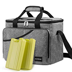 Cooler Bag 40-Can Large with 2 Ice Packs,Insulated Soft Sided Cooler Bag for Outdoor Travel Hiking Beach Picnic BBQ Party