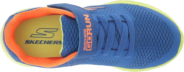 Skechers Kids Boys' GO Run 600 ROXLO Sneaker, BlueLime, 2.5