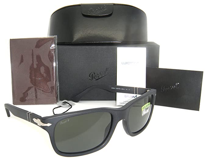 793fbf0b1f2 Image Unavailable. Image not available for. Colour  New Authentic Persol Matte  Black Frame Grey Polarized Lenses 0PO 3048S 900058 58mm
