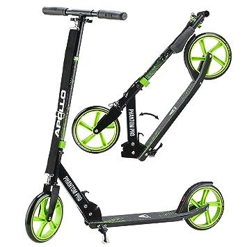 Apollo XXL Wheel Scooter 200 mm - Phantom Pro es un City Scooter de Lujo, City Roller Plegable y Ajustable en Altura, Kick Scooter para Adultos y ...