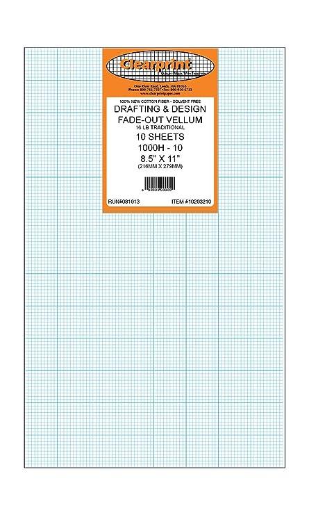 Clearprint Fade Out Design Sketch Vellum Grid 10 X 10 8 12 X