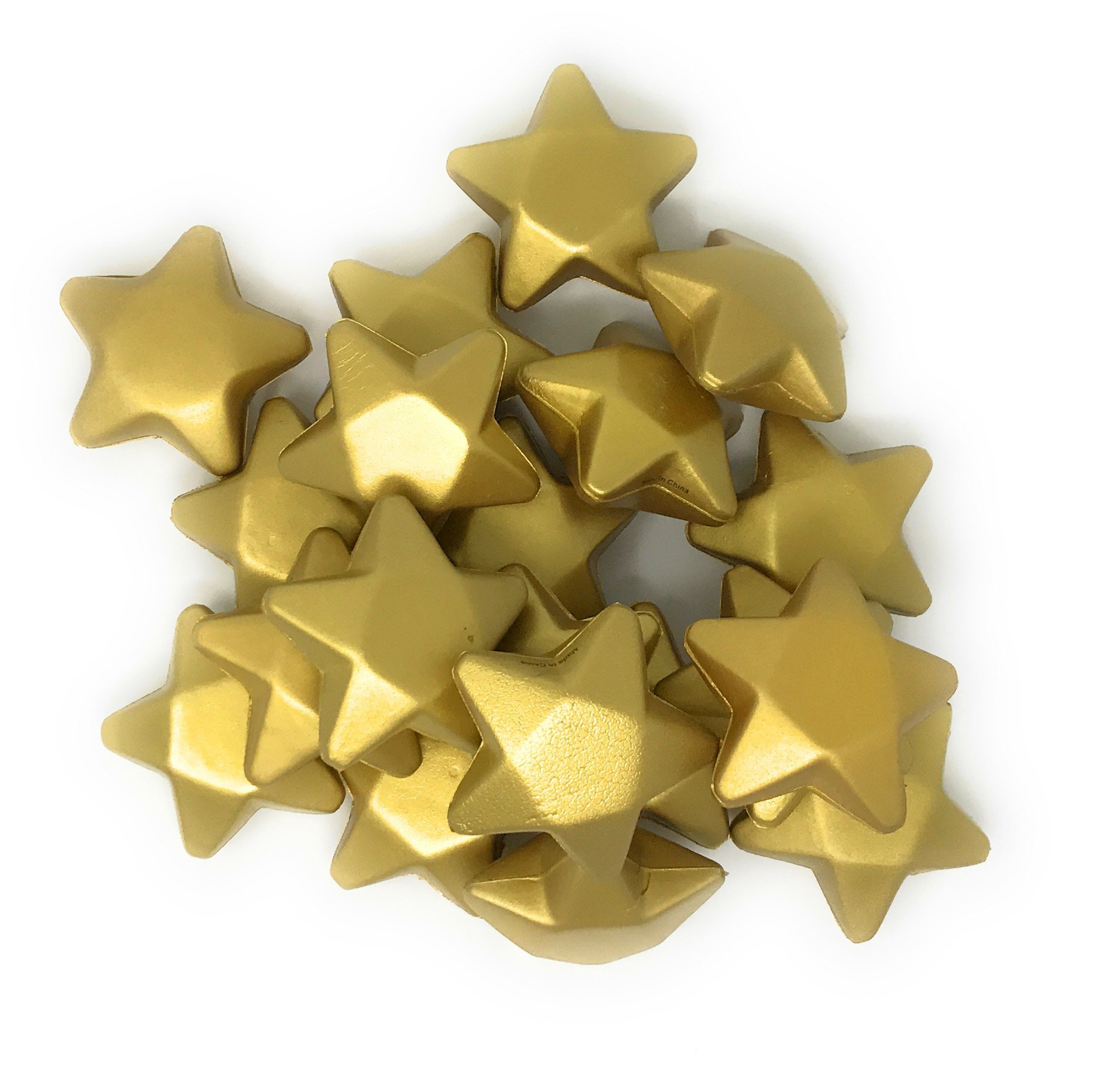 Sea View Treasures 20 Bulk 3'' Gold Star Award Stress Relievers - Perfect Office Awards, Student Prizes, or Camp Trophies by Sea View Treasures