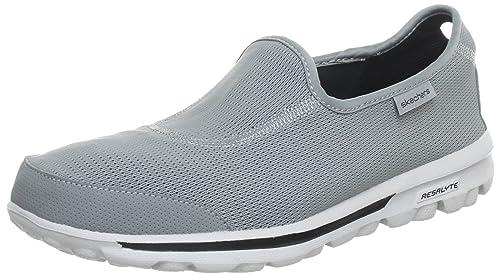 Skechers GO Walk Recovery GO Recovery-M - Zapatillas de lona para hombre, color gris, talla 41: Amazon.es: Zapatos y complementos