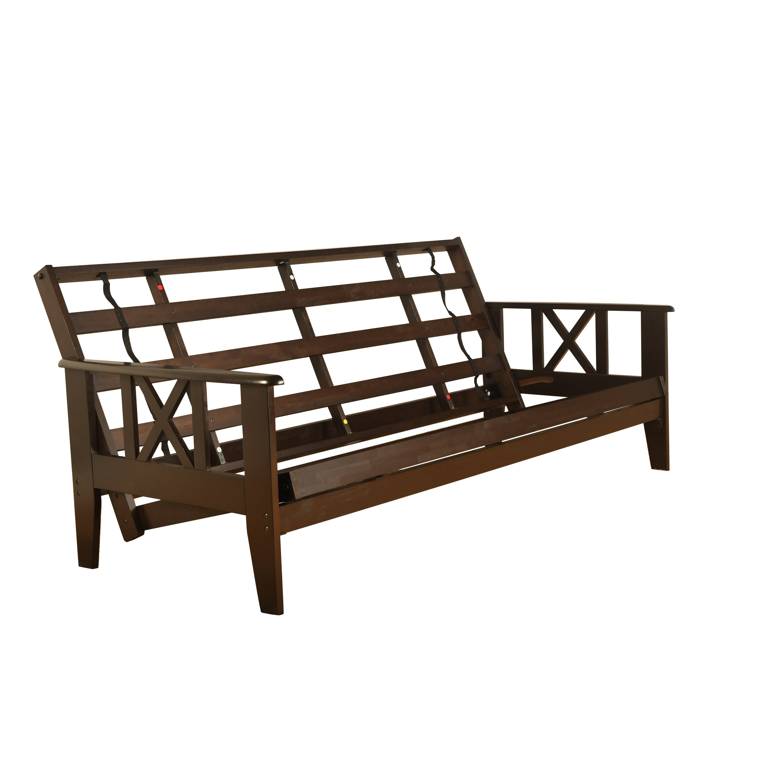 RawFuton Excelsior Espresso Futon Frame |x| - Choose Full or Queen or Full w/Drawers (Queen) by RawFuton