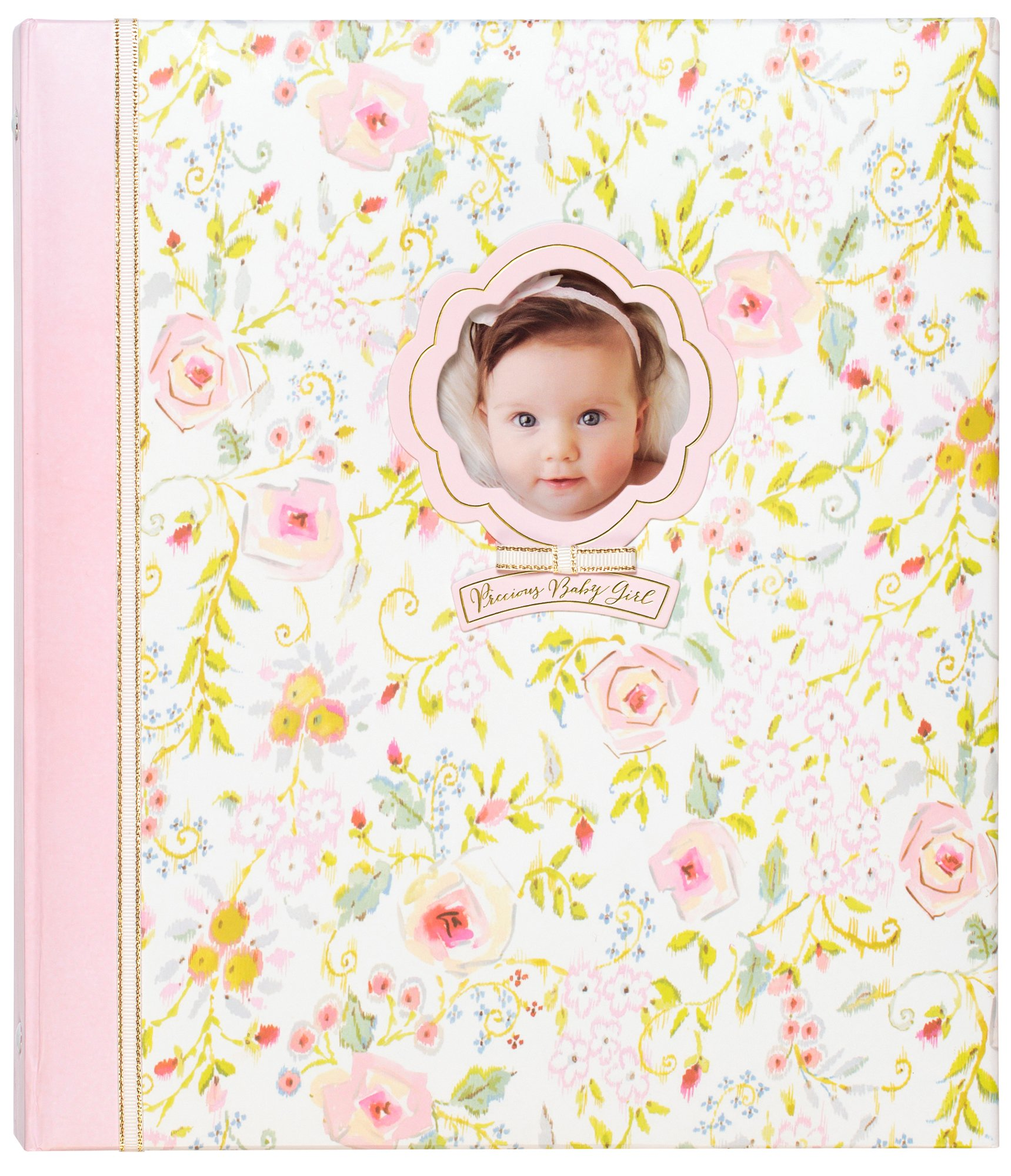 C.R. Gibson Sweet as Can Be Loose Leaf 3-Ring Memory Book for Newborns and Babies, 10.125'' x 11.5''