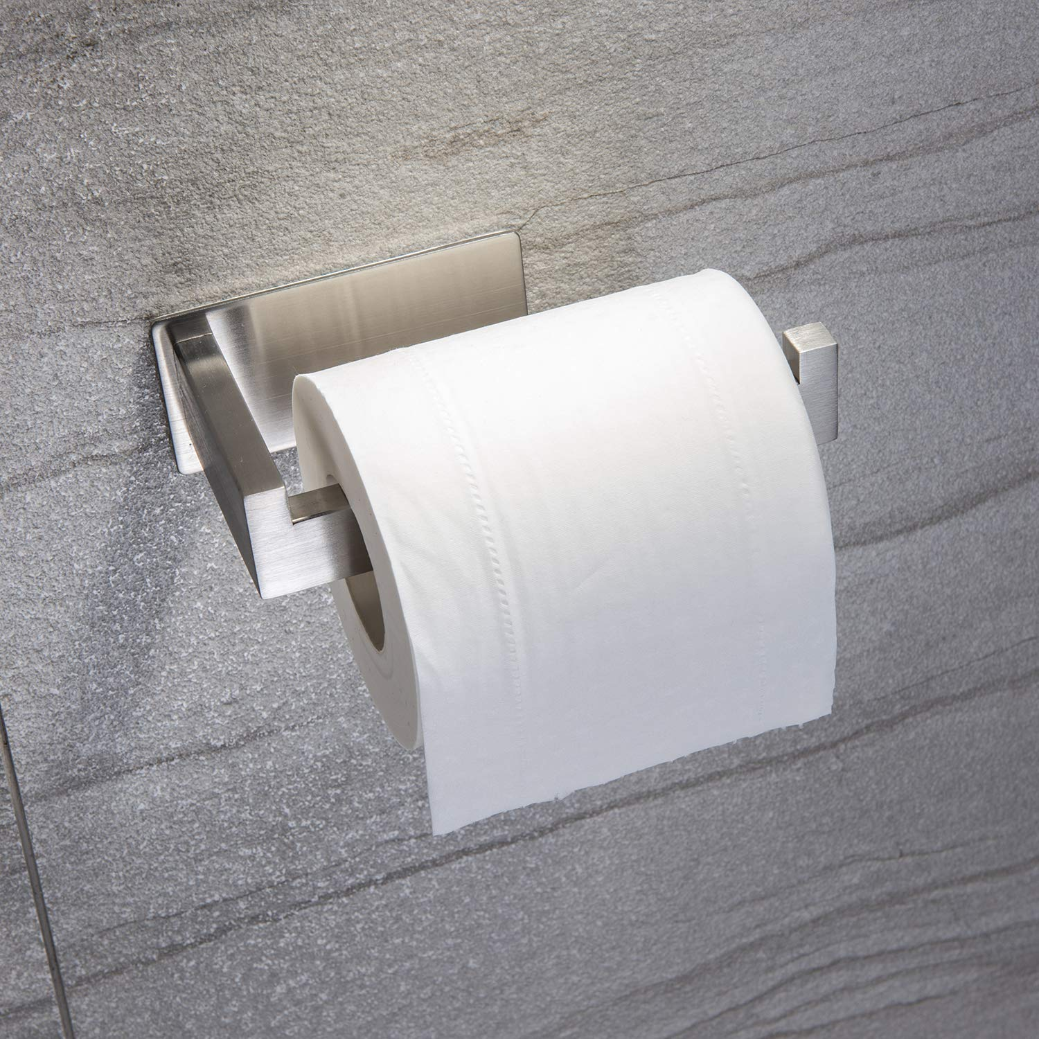 Taozun Toilet Paper Holder 3M Self Adhesive Bathroom Roll Holder Stick on Wall SUS 304 Stainless Steel Brushed by Taozun (Image #2)