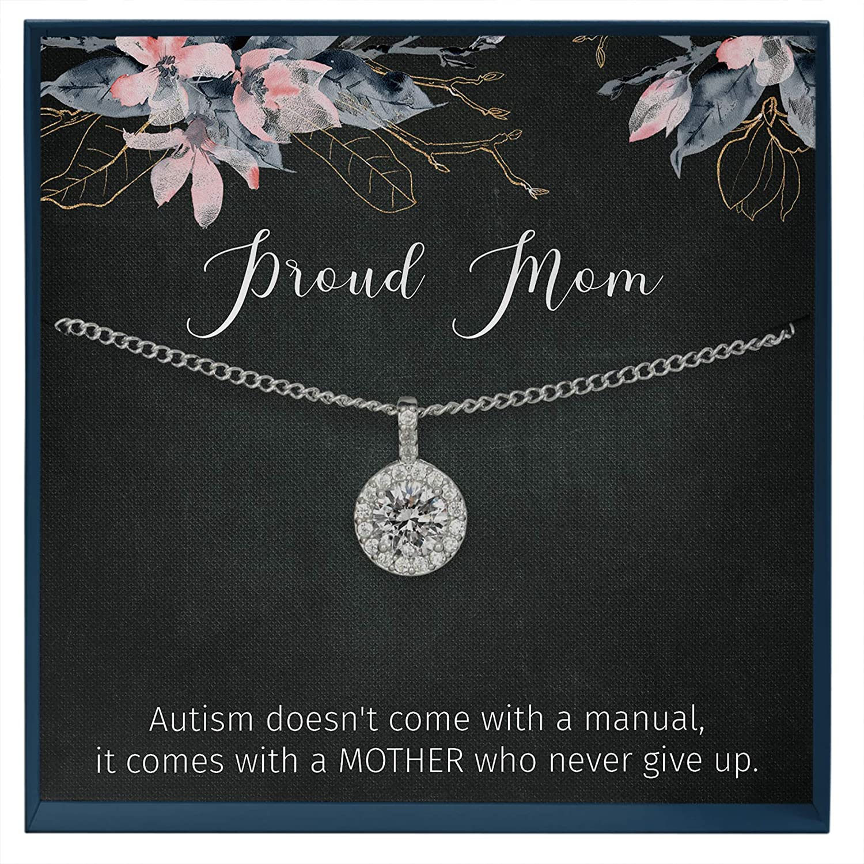 PLITI Autism Awareness Necklace Autism Awareness Gift Autism Love Y Lariat Necklace Autism Puzzle Piece Gift Motivational Autism Gift for Autism Mom//Autism Teacher//Autistic Girl