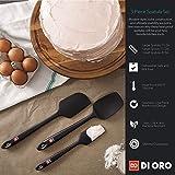 Di Oro Seamless Series 4-Piece Silicone Spatula Set - 600°F Heat-Resistant Pro-Grade Rubber Spatulas - Spoonula, Large Spatula, Small/Mini Spatula, and Jar Spatula - Kitchen Utensil Set