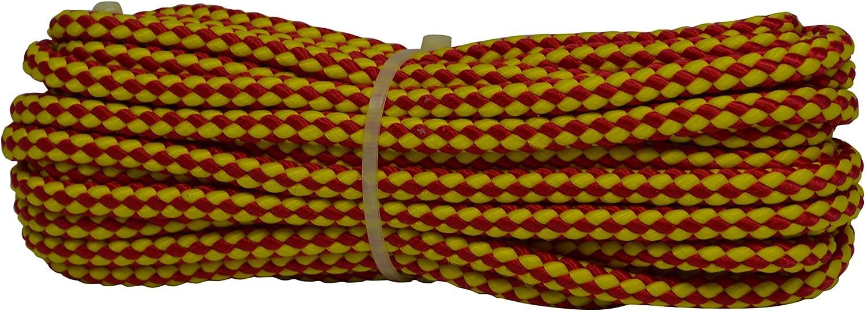 Corderie Italiane 6015321/ /Braid 00/Sport Colour: Yellow//Red 8/mm-10/MT bigiallo//Red