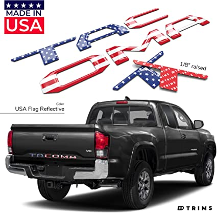 BDTrims Glove Box Raised Letters Compatible with 2016-2020 Tacoma Models White
