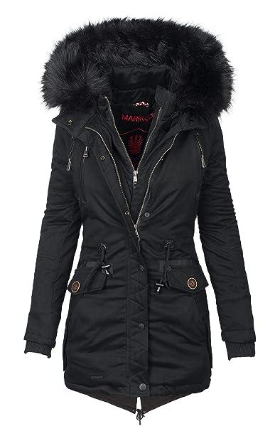 Marikoo Damen Designer Winter Jacke warme Winterjacke Parka Mantel B390