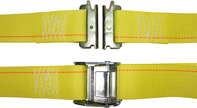 2 in x 16 ft Strap with Cam - 10 Pack - Gray E Track Heavy Duty Adjustable Cam Buckle Straps E-Track Ratcheting Cargo Strap ETrack Lashing Tie Down for Loading Truck Bed Flatbed SGT KNOTS