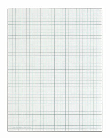 Amazon.com : TOPS Cross Section Pad, 1 Pad, 8 Squares/Inch ...