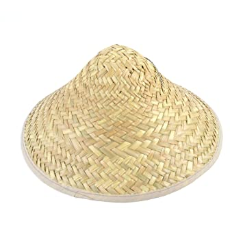 Coolie Hat. Straw  Bristol Novelty  Amazon.co.uk  Toys   Games d49e544ff17