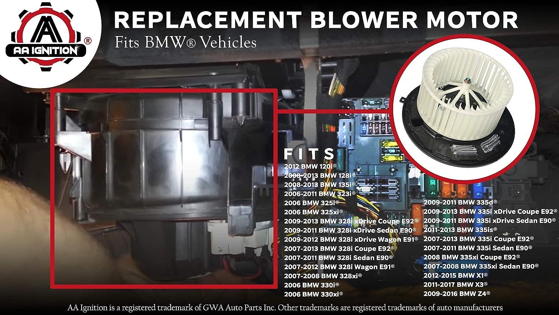 Blower Motor For 2007-2013 BMW 335i 2008 2009 2010 2011 2012 Y734XN