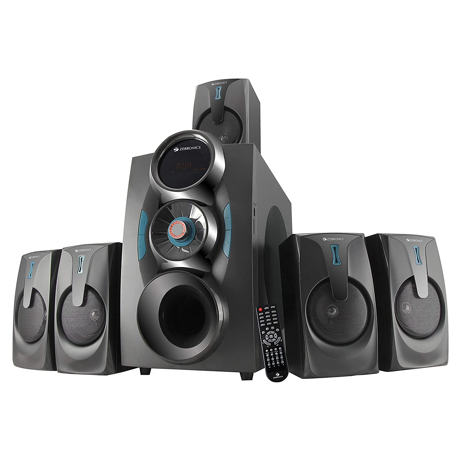 Zebronics ZEB-BT9451 5.1 Multimedia Speaker with Bluetooth Supporting USB, AUX, SD Card, MMC Card, Built-in FM and Remote Control