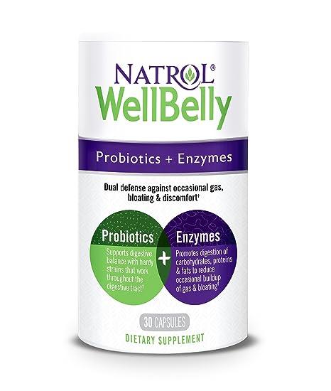 Natrol - WellBelly Probiotics + Enzymes Formula - 30 ...