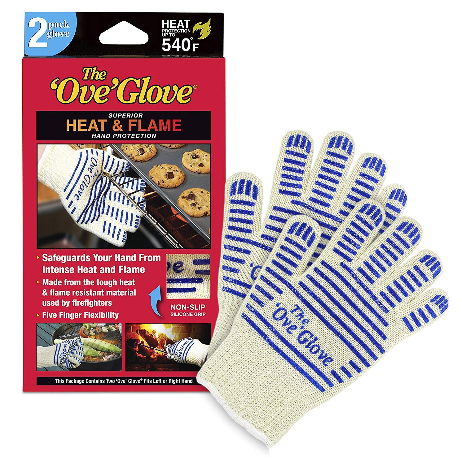 The Ove Glove - Superior HEAT & FLAME Hand Protection - 1 PAIR by 'Ove' Glove