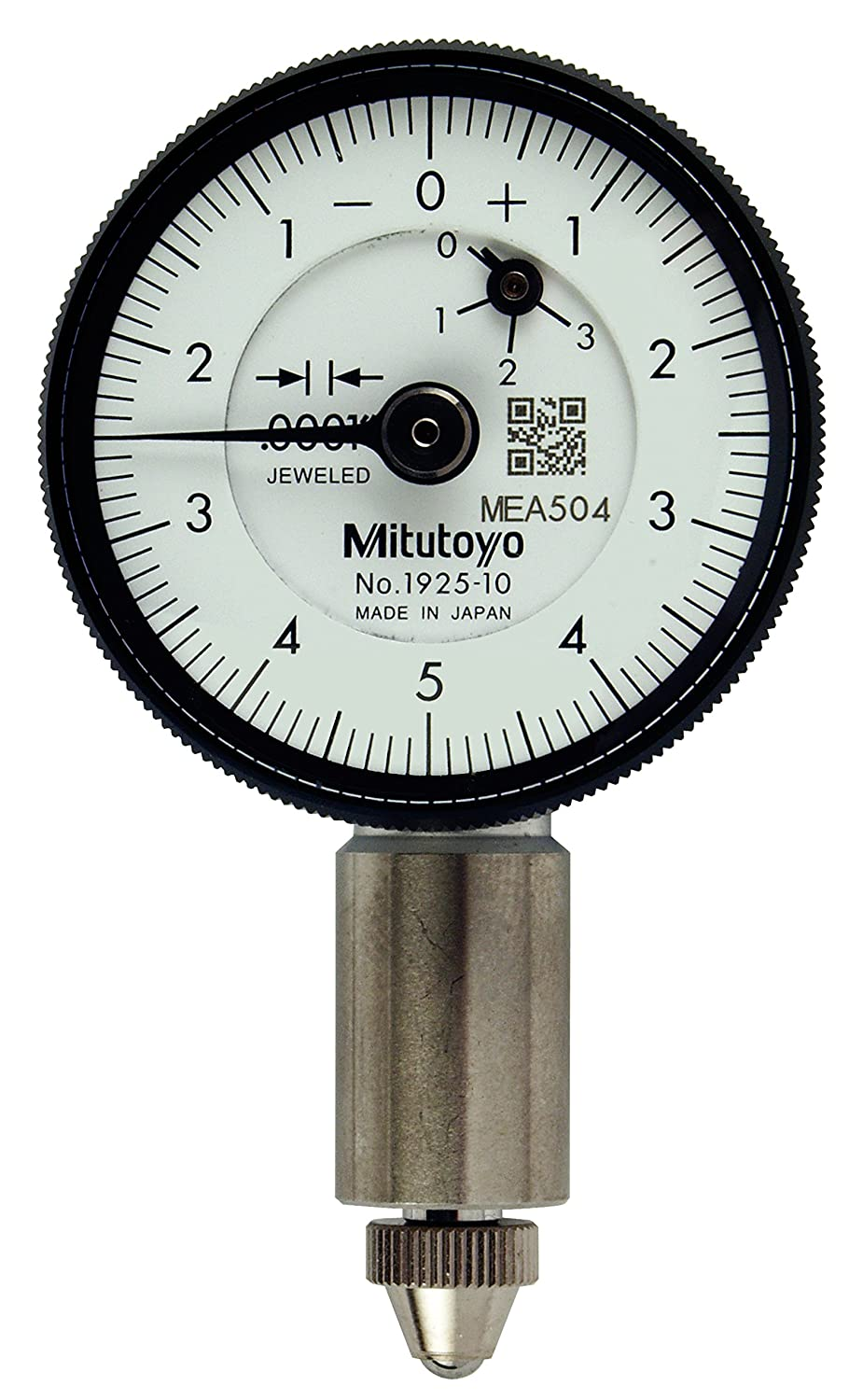 0001 025 in Mitutoyo 1925T-10 Dial Indicator Lug Back 3//8
