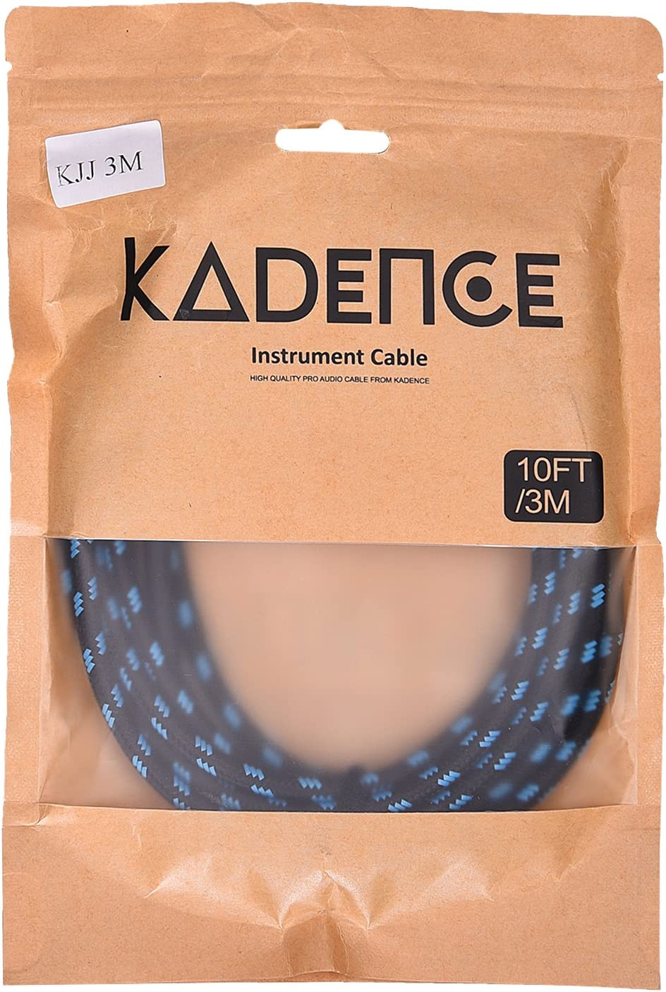 Kadence Guitar Cable 10 ft Electric Instrument Cable Bass AMP Cord 1//4 6.3mm Jack to Jack Straight to Straight for Electric Guitar Bass Guitar Pro Audio Electric Mandolin 3MTR