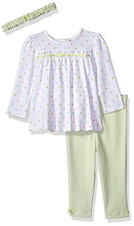 8ab38cf075f38 Little Me Baby Girls' Tunic Legging Set with Headband, Multi Dot New, 3