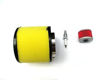 Filtro de aire con filtro de aceite para bujías fit Honda Fourtrax 300 2 x 4 y 4 x 4 trx300/FW: Amazon.es: Coche y moto