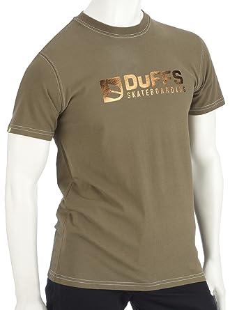 Duffs D2 Bar Logo - Camiseta de Manga Corta Verde Verde Oliva L ...