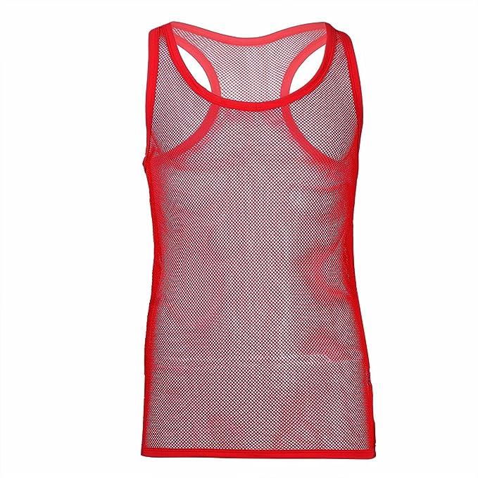 a584f6823f03 iiniim Herren Shirt Transparent Unterhemd Tank Tops Männer Netzhemd  Netzshirt Ohne Arm M-XL  Amazon.de  Bekleidung