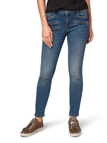 TOM TAILOR Damen Alexa mit Zip Details Skinny Jeans: Amazon