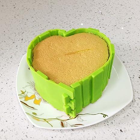 Alimentos grado silicona serpiente hornear Bakeware molde – molde antiadherente (4 piezas para el pan