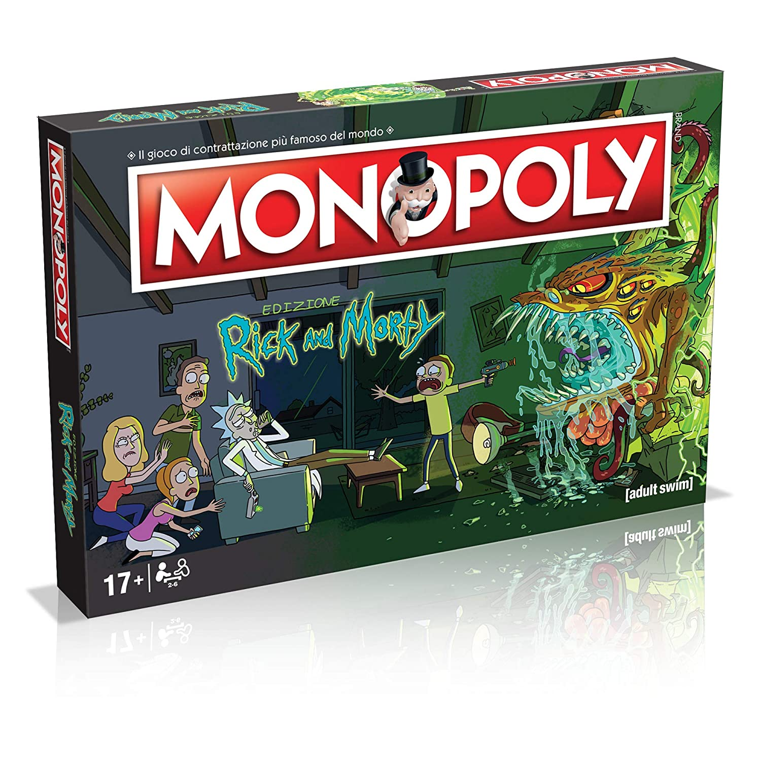 Winning Moves- Rick and Morty Monopoly Italian Edition, 036504 ...