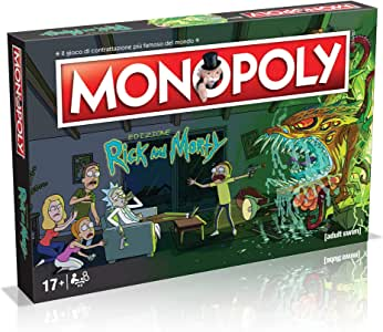 Winning Moves - Rick and Morty Monopoly Italian Edition, 036504: Amazon.es: Juguetes y juegos